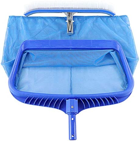 Pool Skimmer Net and Pool Brush Heavy Duty Swimming Pool Cleaning Tool Fine Mesh Pool Leaf Net product image