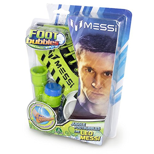 Giochi Preziosi Foot Bubble Seifenblasen mit personalisierbarem Socke Messi grün