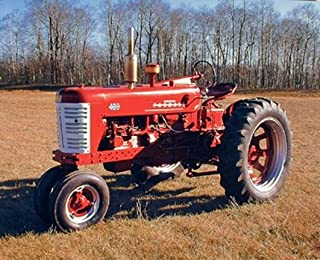 Vintage Tractor Wall Decor Picture 1955 Red Farmall M 400 Farming Art Print Poster (16x20)