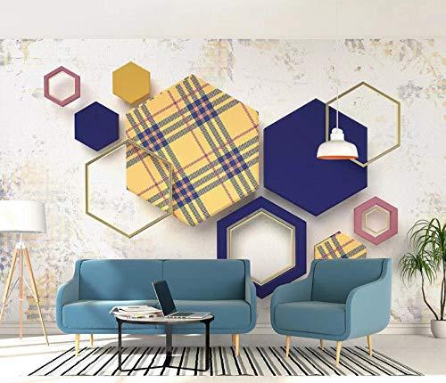 Muurtattoos & muurschilderingen behang keuken, huishouden & wonen 1D binnendecoratie schilderij papel De Parede behang nieuwe geometrische ruit plaid M 250*175cm