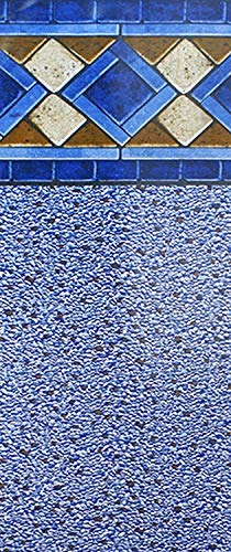 Price comparison product image Smartline Mosaic Diamond 24-Foot Round Pool Liner / UniBead Style / 52-Inch Wall Height / 25 Gauge Virgin Vinyl Material / Heavy-Duty Liners / Designed for Steel Sided Above-Ground Swimming Pools