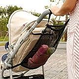 AIHOME Bolsa de almacenamiento de red para carros de niños, bolsa para colgar en el carro de bebé, bolsa de red para llevar pañales juguetes y aperitivos