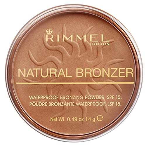 Rimmel London Natural Pressed Bronzer, Light-As-Air Waterproof Formula with Natural Glow Effect, 021...