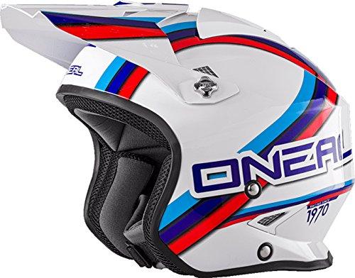 O'NEAL Slat Trial Circuit Motorrad Helm weiß/blau/rot 2018 Oneal: Größe: M (57-58cm)