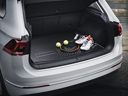 Robuste Gepäckraumschale VW Tiguan II (Bj. 2016) Original VW Zubehör Kofferraumwanne aus Polyethylen 5NA061161A