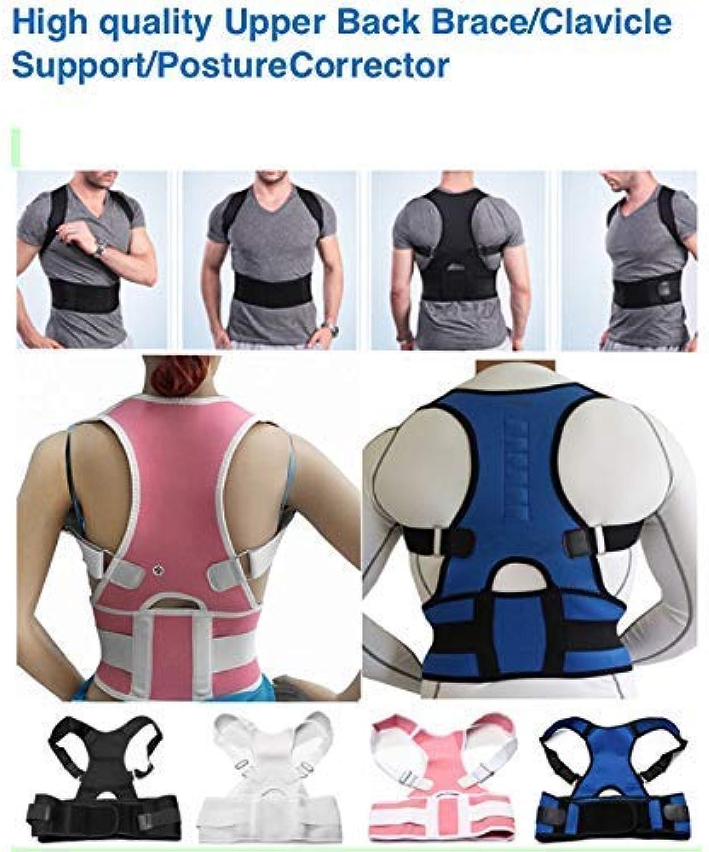 Generic 2019 Women Men Neoprene Orthopedic Shoulder Back Support Belts Magnetic Posture Brace Corrector de Posture 10 Magnets Corsets Black S