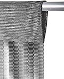 Bestlivings Fadenvorhang Größe 56x185cm optimal für Wohnwagen & Wohnmobil in der Farbe Anthrazit