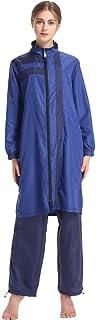 ملابس بحر بسيطة للمسلم ملابس الشاطئ ملابس رياضية رقيقة بوركيني حجاب أزرق