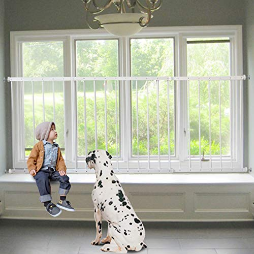 Fairy Baby Child Window Guards for Children Safety Window Gate Security Bars White,Fit 36.6-61.8 Inches Wide