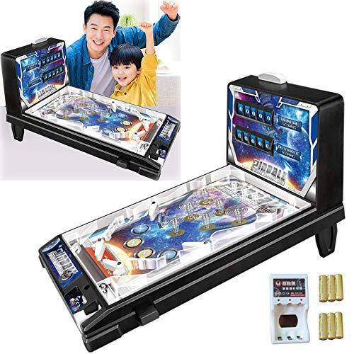 XINGG Pinball Espacio Super, Juegos De Pinball Electrónicos Espaciales, Perfecta como Regalo Friki para Niños Y Adultos, Máquinas Recreativas Retro con Luces Y Sonidos, Regalo De Fiesta De Cumpleaños