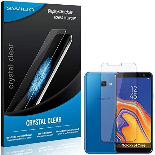 SWIDO Schutzfolie für Samsung Galaxy J4 Core [2 Stück] Kristall-Klar, Hoher Festigkeitgrad, Schutz vor Öl, Staub & Kratzer/Glasfolie, Bildschirmschutz, Bildschirmschutzfolie, Panzerglas-Folie