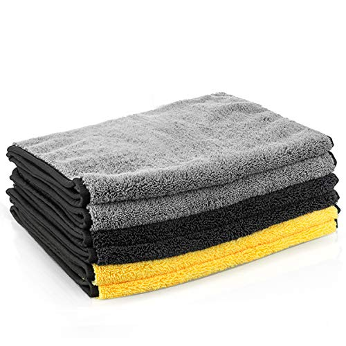 MATCC Microfiber Towels for Cars 6 Pack 16'' x 32'' Microfiber Cleaning Cloths Ultra-Thick Super Absorbent Car Microfiber Towel for Washing Polishing Waxing and Drying Detailing Towel
