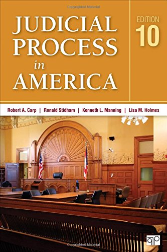 Compare Textbook Prices for Judicial Process in America Tenth Edition 1 Edition ISBN 9781483378251 by Carp, Robert A,Carp, Robert a