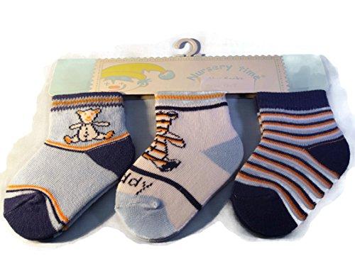 3 paires de chaussettes pour bébé Teddy Imprimé Taille 0–2