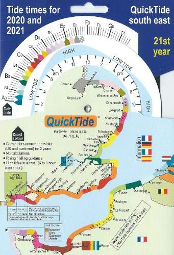 QuickTide south east: Tide times for 2020 and 2021:  21st year (QuickTide  (or mis-spelled: Quick Tide))