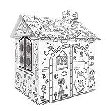 Bricolaje cartón grande para colorear artesanías creativas proyecto casa de juego montar y pintar juguetes educativos 2. 2 pies de altura para niños edad 2,3,4,5,6,7,8
