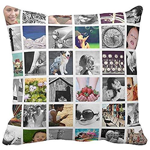 Hey Judey Kissenbezug Dekokissenbezug Kissenbezüge Erstellen Sie Ihre Eigene Foto-Collage Dekokissenbezug Sofa Oder Autokissen,45x45 cm
