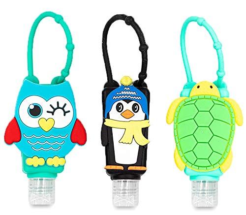 Sango Tragbare Leere Silikon Flaschen für Desinfektionsmittel - Reiseflaschen - Desinfektion für Hände - Auslaufsicher und Nachfüllbar - 3 Stück - Schutz für den Alltag - Flexibel, wiederverwendbar