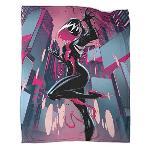 Xaviera Doherty Venom Spiderman Superhero Movie (9) Leichte Reisedecke, 80 x 100 cm, weiche und bequeme Bettdecke, für Schlafcouch, Sofa