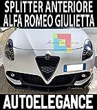 Generico Splitter Giulietta Lip DEFLETTORE sotto PARAURTI Anteriore ABS/Plastic Nero