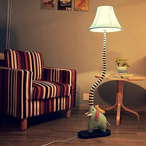 IREANJ Lámpara de pie, de dibujos animados del arte del paño encantador creativo de probóscide elefantes Decoración Luz Aplicar a la habitación de los niños dormitorio de pie luminarias for el bulbo d