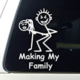 CCI Making My Family Decal Vinyl Sticker|Cars Trucks Vans Walls Laptop| White |5.5 x 3.5 in|CCI804