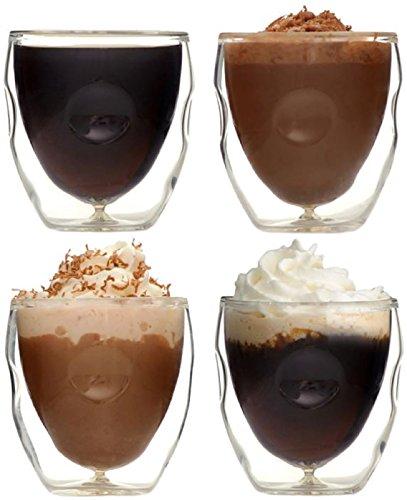 Ozeri Moderna Lot de 4 Tasses à Espresso à Double paroi