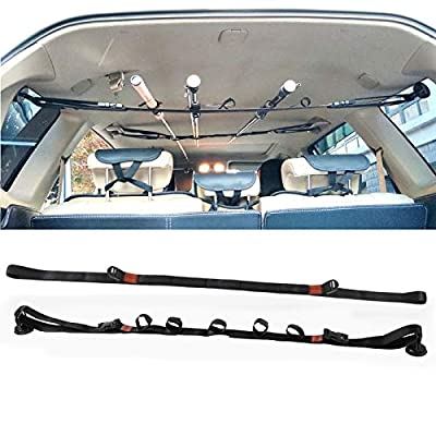 Car Fishing Rod Holder Strap, Vehicle Fishing Rod Rack, Fishing Pole Carrier Storage Rack Belts for Car, SUVs and Vans