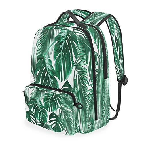 RXYY Sac à dos avec feuilles de palmier tropicales détachables pour étudiants et étudiants