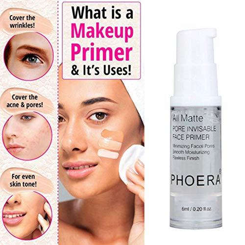 Freeorr Make-Up Grundierung, Feuchtigkeitsspendende Make-up-Grundierung Kosmetik-Primer, Mini Make Up Facial Prime für Pore Invisible, Freshing und Natural, Moisturizing Smooth-0.2 Oz