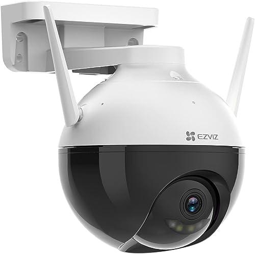 EZVIZ C8C Outdoor WiFi Security Camera 1080P,Pan/Tilt 360° PTZ Coverage,Color Night Vision Up to 30m,IP65 Waterproof,...