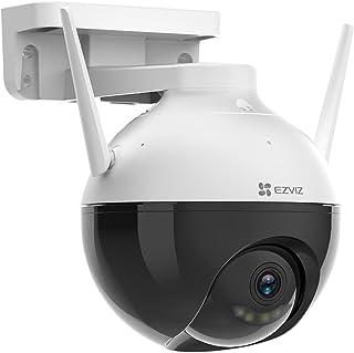 كاميرا مراقبة ايزفيز C8C 1080P، للاستخدام داخل المنزل وخارجه بتقنية WiFi ورؤية ليلية ملونة ودوران 360 درجة وحماية ضد الغبا...