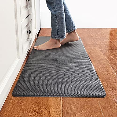 "Kitchen Mat Cushioned Anti Fatigue Floor Mat, Avoalre Ergonomic Comfort Standing Mat, Waterproof Non Slip Kitchen Rug Floor Pad for Home, Office, Garage, Laundry Room, Standing Desk (17"" x 30"", Black)"