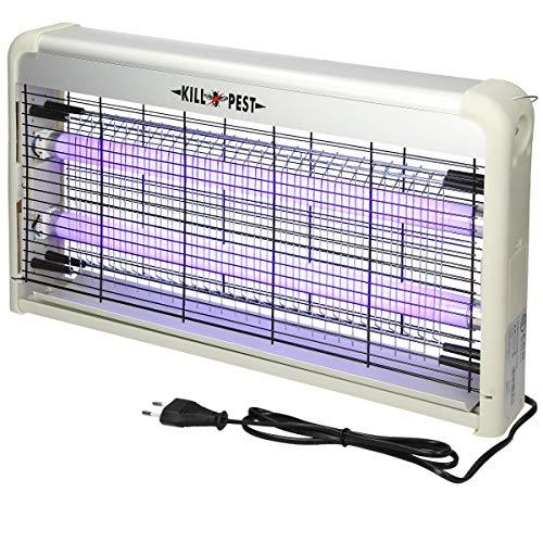 ECD Germany Insektenvernichter elektrisch mit UV-Licht 30W bis 80 m² inkl. Kette - Insektenfalle Insektenlampe Mückenvernichter Mückenschutz Fliegenfalle Moskito Killer Fliegenkiller Insektentöter