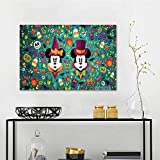 Girls Wall Art Canvas Prints Happy Holloween Wallpaper Mural W24 x L20 Inch