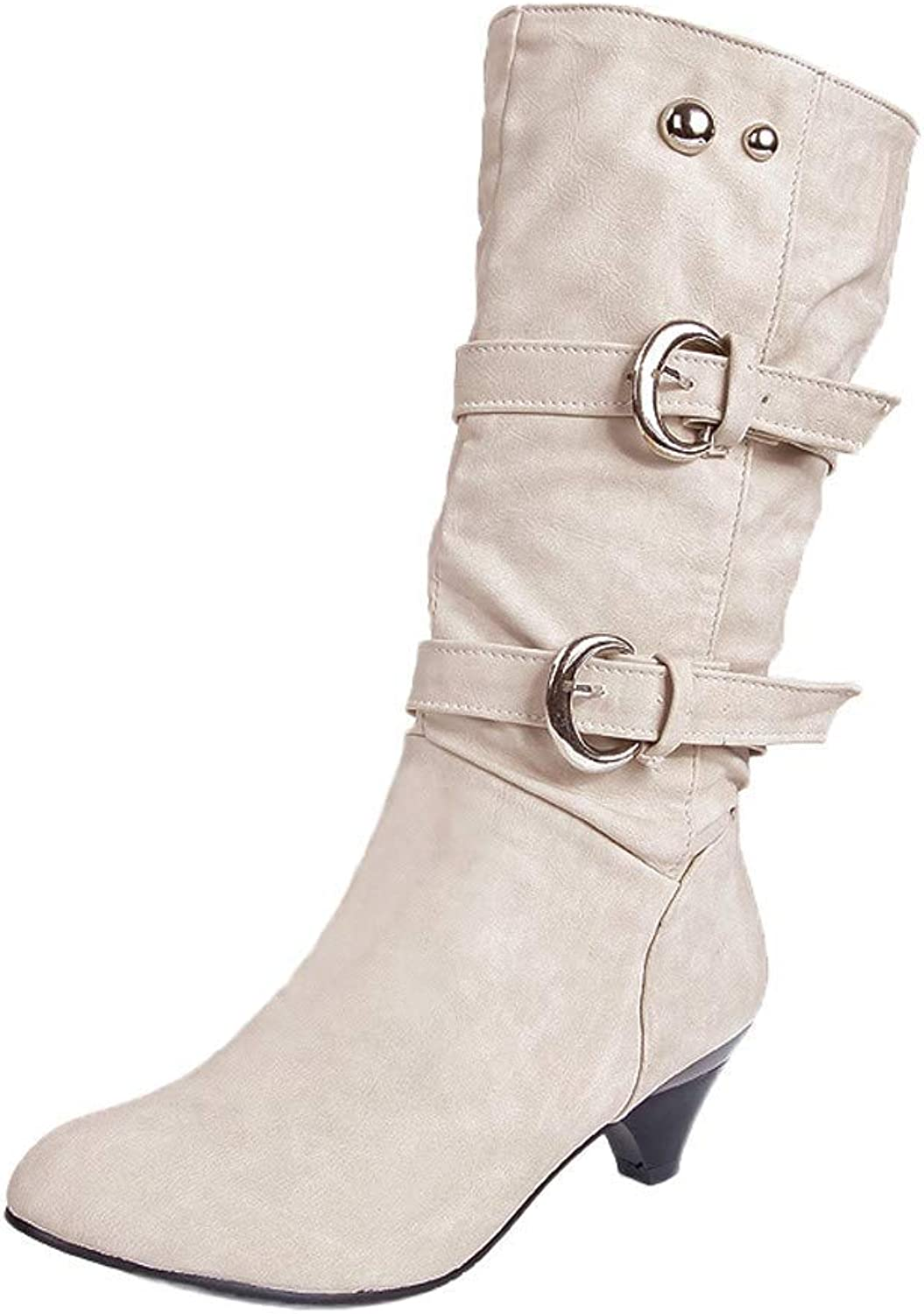 So8ooa Lady Boots Round Head Fashion Causal Business Wild Comfortable colorful Elegant Anti Slip Buckle Cup Center Tube Comfortale Female Martin Boots