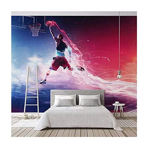 Living Equipment 3D Wallpaper Leinwand Kunstdruck Wandbild Poster Foto Tapeten Wandbilder Bild Design Modernes Wohnzimmer Schlafzimmer Home Decoration-Slam Dunk NBA Basketball Sport (350x256CM)