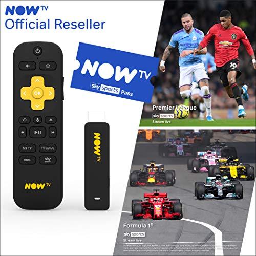 Smart Stick für NOW TV mit HD und Sprachsuche inklusive Sky Sport Pass 1 Monat