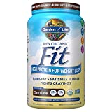 Garden of Life Raw Organic Fit Powder, Chocolate - High Protein for Weight Loss (28g) Plus Fiber,...