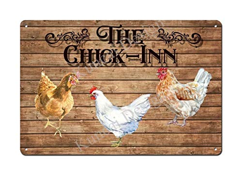 Chicken Run Sign Hen House Girl Poultry Rooster Coop Coup Run Pen Cage Roost 8'x12' Retro Vintage Tin Sign Chicken Coop Decor Funny Chicken Decor Sign Jsbz-0724