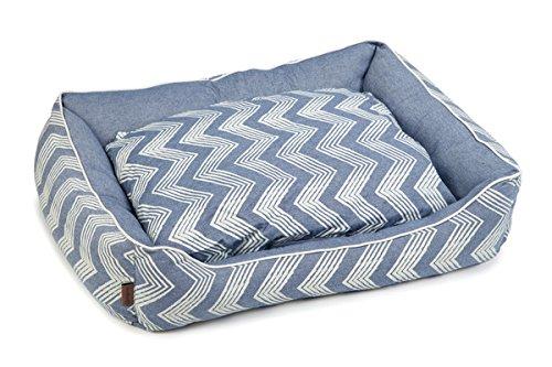 Beeztees Hundebett Zigzag L: 95 cm B: 80 cm H: 25 cm blau