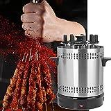 Annjom Barbecue, Machine à Barbecue à Haute température et à Haute température Machine à Barbecue Verticale sans fumée pour la Maison pour la Cuisine(Pink)