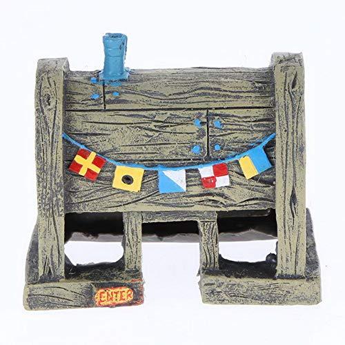 JLB para decoración de acuarios y peceras Bob Esponja Figuras Adornos Casa de piña Decoración de peceras Decoración deacuarios Accesorios, 10 x 8,6 x 6 cm, como Imagen