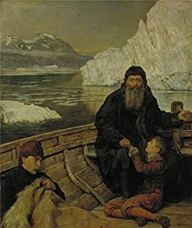 Oil Painting 'John Collier - The Last Voyage Of Henry Hudson,1881' 18 x 21 inch / 46 x 54 cm , on High Definition HD canvas prints is for Gifts And Game Room, Garage And Home Theater Decoration, sale