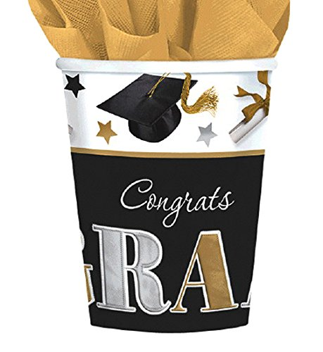 Find Bargain amscan Festive Grad Class of 2016 Graduation Party Paper Cups Tableware, 9 Ounces, Pack...