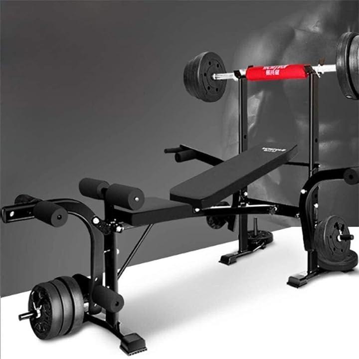 Panca sit up bench piegabile regolabile con dip station, heavy duty multi sit up allenamento 789456