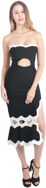 NICCI BLADEX Women's Tall Waist Strapless Cocktail Evening Dress