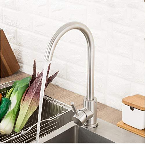 Edelstahl Küchenarmatur Hot & Cold Water 360 drehen Haferflocken Mixer Wasserhahn für Küche Küchenarmatur