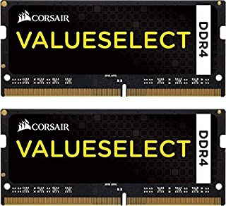 Corsair CMSO16GX4M2A2133C15 Value 16 GB DDR4 2133 Mhz CL 15 260 Pin SODIMM laptop minneskit – svart