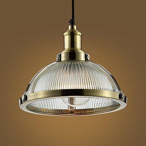 Lustres en fer d'époque - Luminaires antiques à LED industriels en verre pour éclairage de bar Plafonniers Nordic Salon d'étude Magasin de vêtements Luminaire suspendu (Design : A)